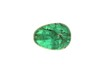 bead; emerald - Ovoid emerald bead