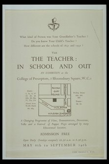 handbill - Visit the teacher: in school and out